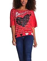 Desigual Nadine - T-shirt - Empire - Imprimé - Col bateau - Manches courtes - Femme