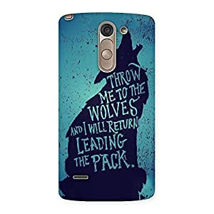 Throw Me To Wolves Back Case Cover for LG G3 Stylus