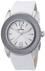Festina - F16592/1 - Montre Femme - Quartz Analogique - Bracelet Cuir Blanc