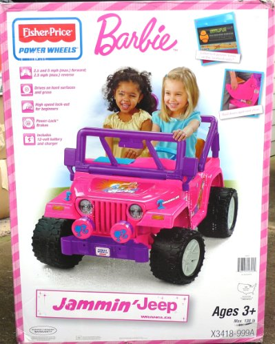 Power Wheels Fisher-Price Barbie Jammin' Jeep front-530818