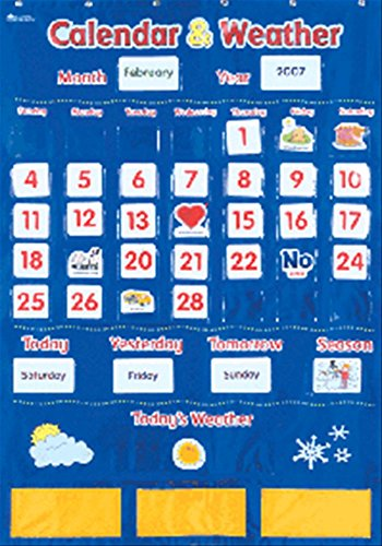 Learning Resources Calendar and Weather Pocket Chart (Weather Pocket Chart compare prices)