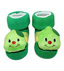 Wonderkids Caterpillar Plush Baby Socks Booties - Green