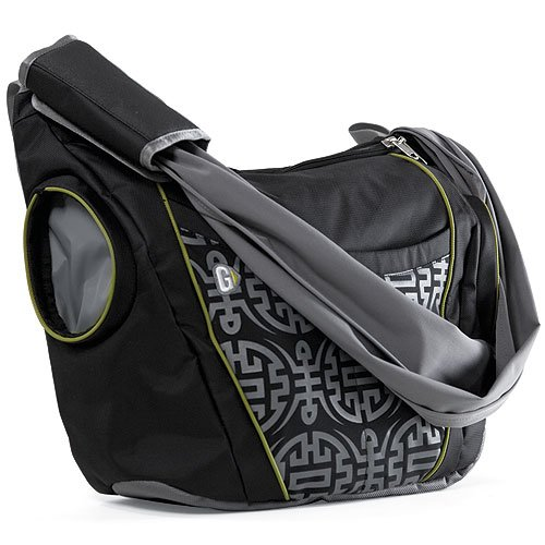 slide messenger diaper bag by go gaga designer nappy bags. Black Bedroom Furniture Sets. Home Design Ideas