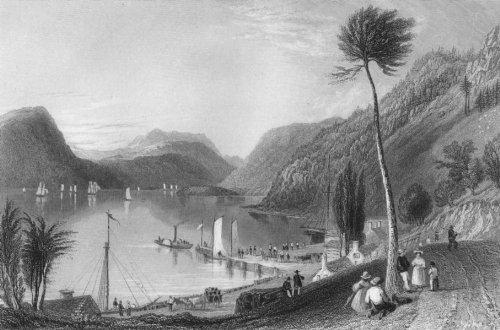 Peekskill Landing, Hudson River, c1840