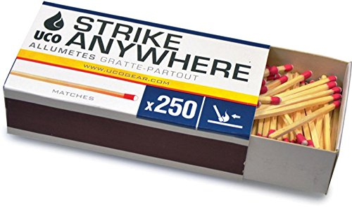 For Sale! 10 count UCO Strike Anywhere Matches - 10 boxes of 250 matches
