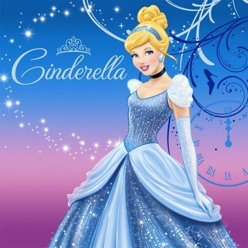 Disney Cinderella Sparkle Lunch Napkins (16 count) Party Accessory