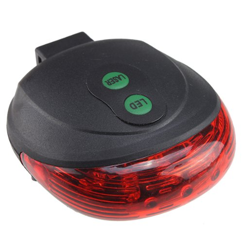 Aode® 2 Laser + 5 Led Cycling Bicycle Bike Taillight Warning Flashing Lamp Alarm Light 100676