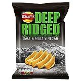 Walkers Deep Ridged Crisps - Salt & Malt Vinegar (50g)