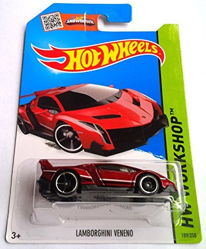 Lamborghini Veneno RED hot wheels 189/250 Hw workshop - 1