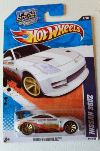 Hot Wheels 2011 Nissan 350Z Nightburnerz Race Online Card 1:64 Scale - 1