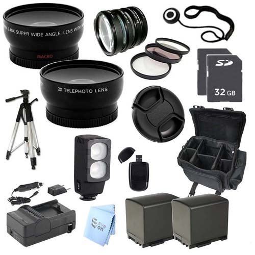 Ultra Pro Accessory Package: For Canon Vixia Hf M32 Dual Flash Memory Camcorder