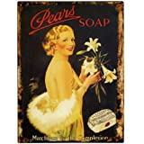 Home WorkS Vintage Tin Advertising Signs - 9244 - Pears Soap Tin Plaque