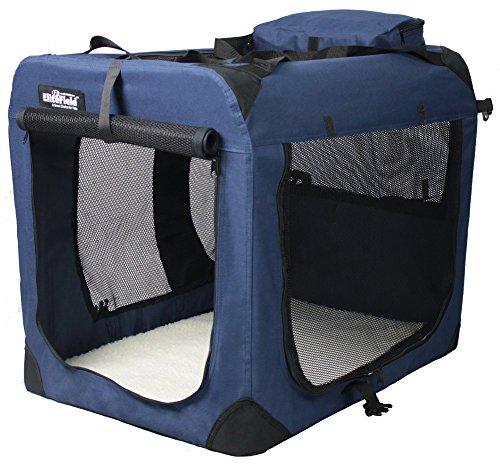 EliteField 3-Door Folding Soft Dog Crate, Indoor & Outdoor P