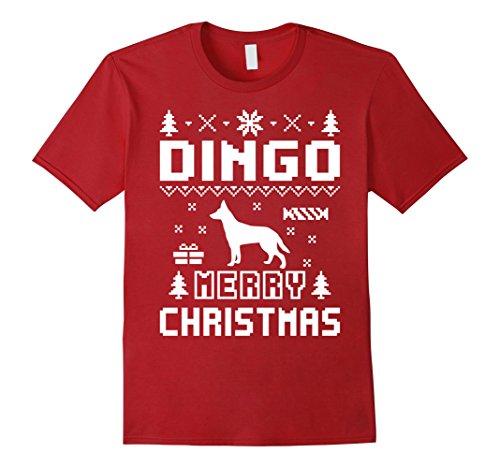 Men's Dingo Ugly Christmas Sweater T-shirt Medium Cranberry