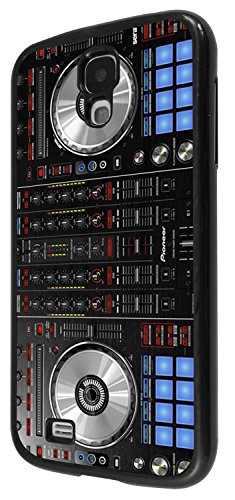 1061 - cool fun dj mixer turntable vintage retro music dance clubber rnb hip hip rave club Design For Samsung Galaxy S4 i9400 Fashion Trend CASE Back COVER Plastic&Thin Metal - Black