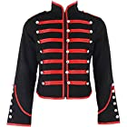 Banned Men's Black and Red Military Jacket - Small