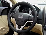 Black Fashion Universal Fit Leather Texture Soft Silicone Car B Steering Wheel Cover Medium Size Odorless 3 Colors Volkswagen Touran