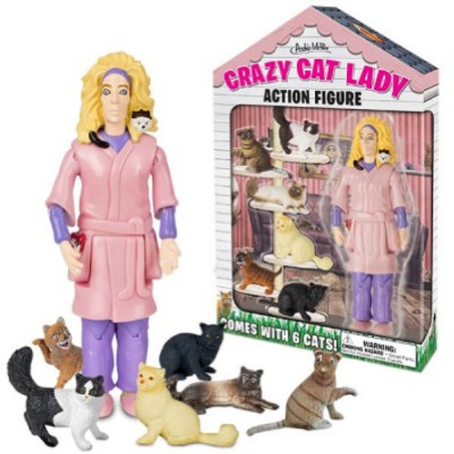 Crazy Cat Lady Collectible Novelty Action Figure by Archie McPhee