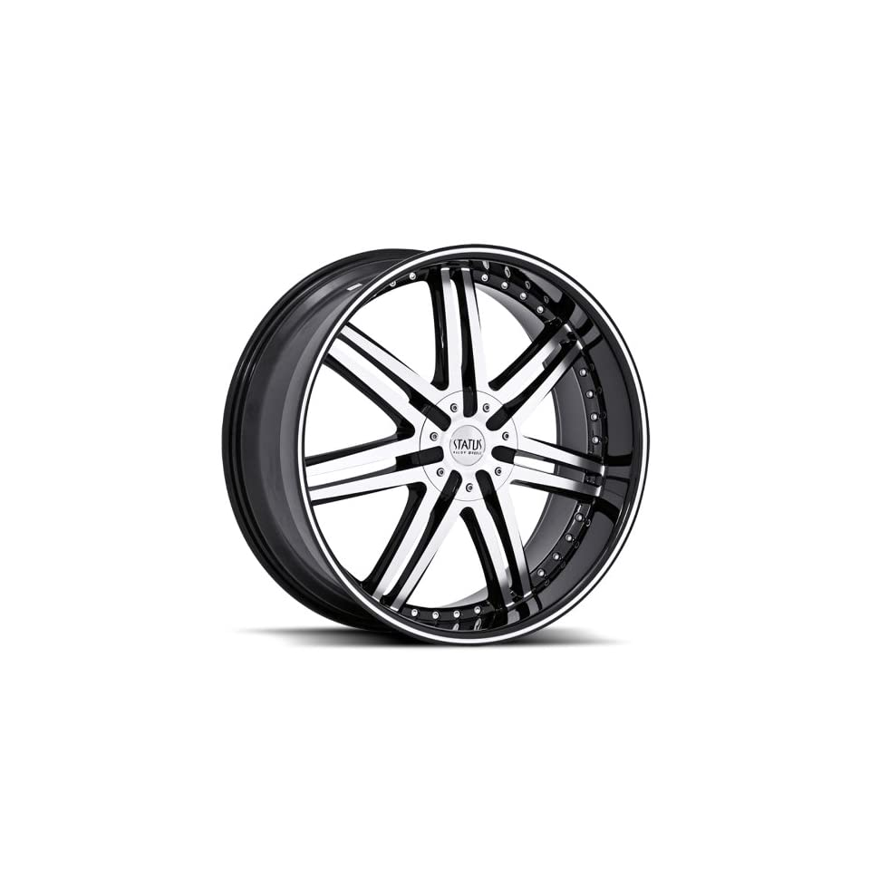 Status S805 Game 24x9.5 Land Rover Rangerrover HSE Wheels Rims Black Machine Face Black Lip. 4pc   1set