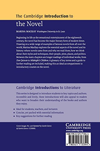 The Cambridge Introduction to the Novel Paperback (Cambridge Introductions to Literature)