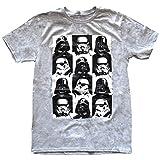 Star Wars Men's Darth Vader Stormtrooper Checkered T-shirt