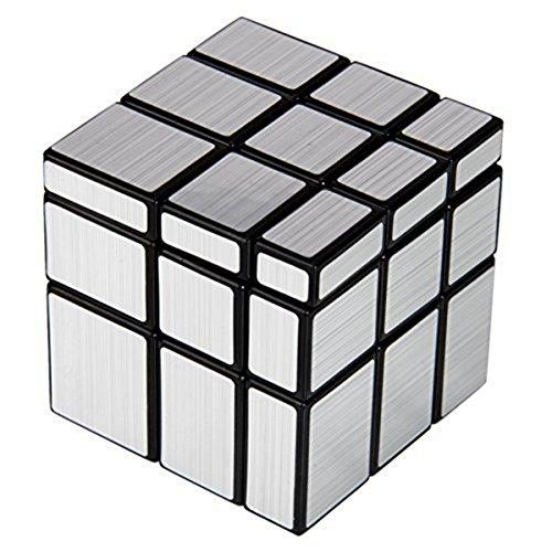 Originale Cubo di Rubik-Nuovo Resistente Piastrelle veloce azione cubo Mirror Silver