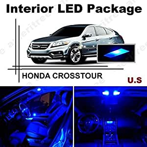 ameritree honda crosstour 2010 2014 9 pieces blue led lights interior package. Black Bedroom Furniture Sets. Home Design Ideas
