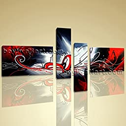 Huge 4 pcs Wall Art Modern Abstract Contemporary Artwork Giclee Print On Canvas 4 Pieces Wall Art Inner Framed Ready To Hang BoYi 67\