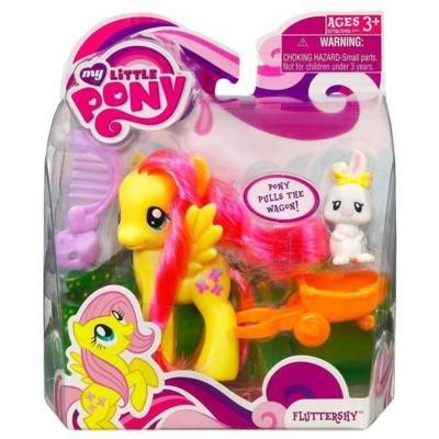 My Little Pony – FRiENDSHiP iS MAGiC – fliegendes Pony FLUTTERSHY (ca. 9cm) – mit Freund Hase & Pferde-Anhänger online kaufen