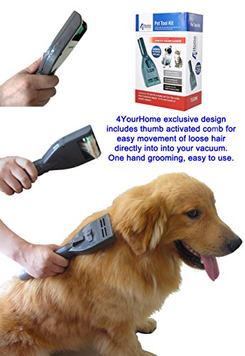 Pet Groom Vacuum Attachment Tool Kit W Hose Brush Flea