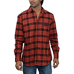 Inego Men's Casual Shirt (Red )