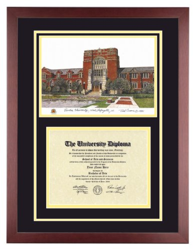 PURDUE UNIVERSITY Diploma Frame with Artwork in Standard Mahogany Frame