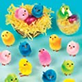 Coloured Mini Fluffy Chicks (Pack of 12)