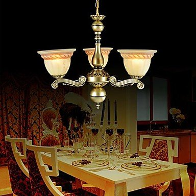 Chandeliers Three Lights 220V Bronze European Retro Classic