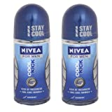 Nivea For Men Cool Kick Roll On (Pack of 2) 50 ml