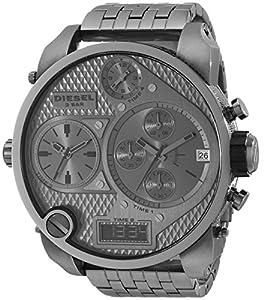 Diesel Herren-Armbanduhr XL Mr. Daddy Multi Movement Analog - Digital Quarz Edelstahl beschichtet DZ7247