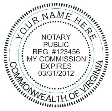 NEW IMPRUE Round Self-Inking NOTARY SEAL RUBBER STAMP - Virginia (Notary Stamp And Seal compare prices)