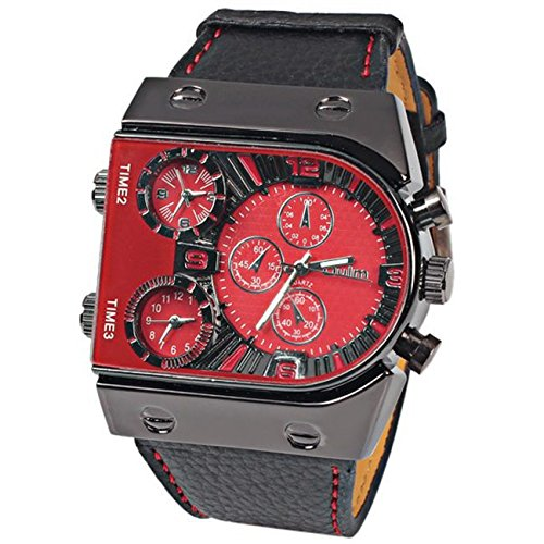 oulm-brand-three-time-zone-mens-quartz-military-wrist-watches-with-function-faux-leather-band-red