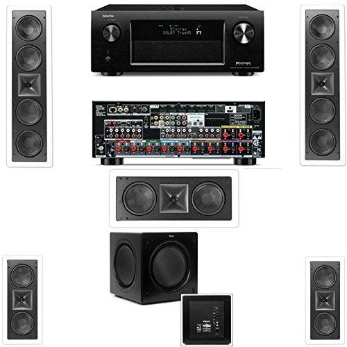Klipsch Kl-6504-Thx(2 Speaker) In-Wall 5.1-Sw-310 Denon Avr-X4000 In-Command 7.2- White