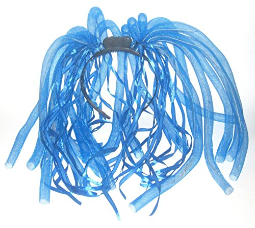 LED Flashing Light Up Hair Noodles - Blue (Light Up Blue Headband compare prices)