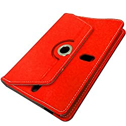G-STAR Universal Tablet Synthetic Leather Flip Cover For Any 7 inch Tablet - Red