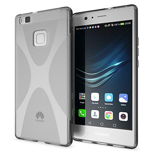 delightable24 Cover Case in Silicone TPU per Smartphone HUAWEI P9 Lite - X-Line Grigio