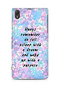 AMEZ always remember to fall asleep with a dream Back Cover For Sony Xperia Z1 C6902