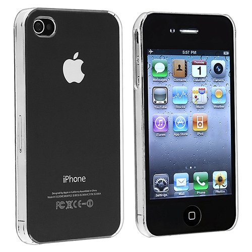 Snap-on Crystal Case compatible with Apple® iPhone® 4 AT&T / Verizon / iPhone® 4S, Clear Rear