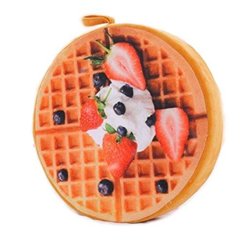 Samgo Cookie Fruit Pizza Pillow Seat Cushion (Waffles)