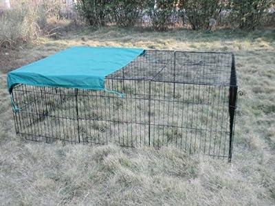 """72"""" x 48"""" Pet Playpen w/Door & Cover Rabbit Enclosure"""