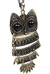 CAETLE® Vintage Owl Pendant Chain Necklace
