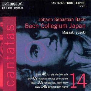 Intégrale Des Cantates Vol. 14 : Les Cantates De Leipzig 1723, BWV 148, 48, 89, 109