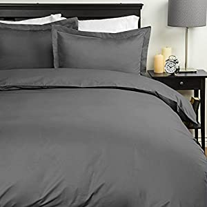 Sweet Home Collection Egyptian Quality 3-Piece Duvet Set, Grey, Full/Queen