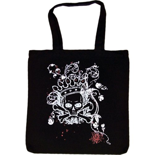 Tote Bag : VICTORIAN SWIRL WITH SKULL AND CROSSBONES